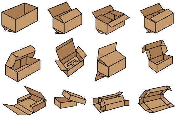 Cardboard Boxes - Various Types